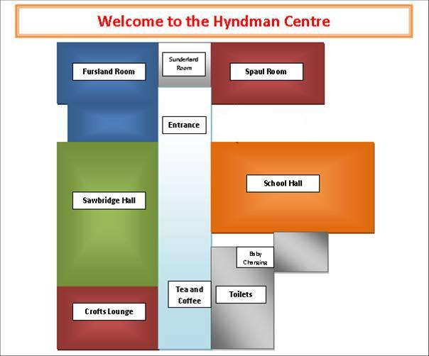 Room plan Hyndman Centre 1
