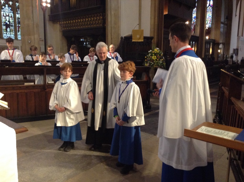 Choristers receiving awards