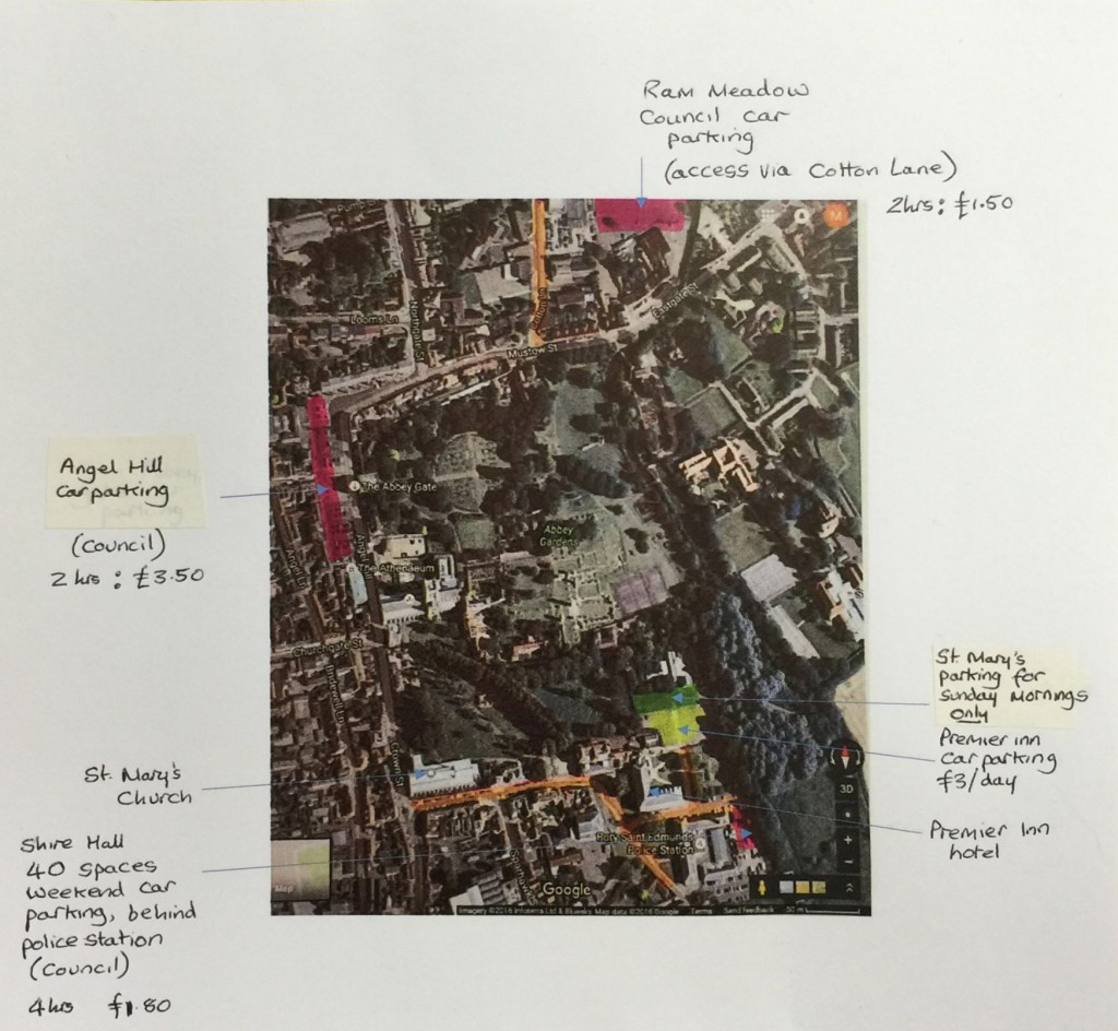 Where to park for St Mary's